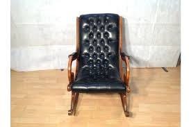 chesterfield slipper chair superb chesterfield slipper rocking chair in black leather and cherry wood photo 1 chesterfield slipper chair leather