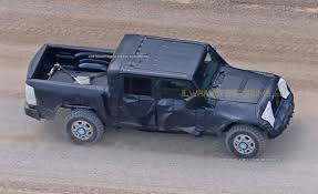 jeep wrangler pickup truck prototype first sight