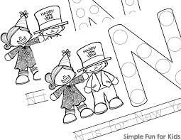 Small Picture N is for New Year Dot Marker Coloring Pages Simple Fun for Kids