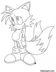 Printable Sonic The Hedgehog Tails Coloring In Sheets Printable