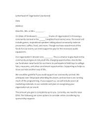 Raise Request Letter Template Example Of A Sponsorship Acknowledgement Letter Template