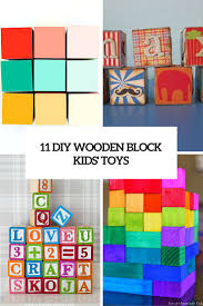 11 diy wooden blocks kids toys cover