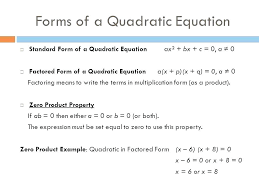 math formula quadratic equations picture of solve equation