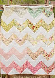 Chevron Quilt Pattern Inspiration Chevron Quilt The Easy Way Scattered Thoughts Of A Crafty Mom