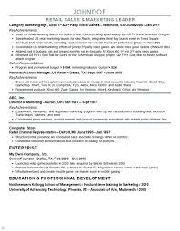 Example Of Marketing Resumes Director Of Marketing Resume Resume Sample
