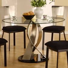 interesting design dining beauteous round glass dining table