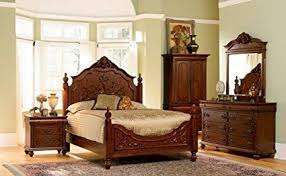 Amazon.com: 5pc Isabella Collection Solid Hardwood Queen Size ...