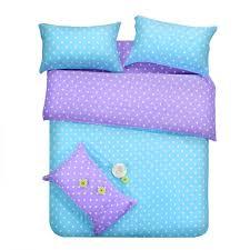 purple blue dots bedding sets polka dot full double queen size quilt duvet cover bed sheet bedspreads linen bedsheet cotton 4pcs western