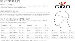 Giro Ski Helmet Size Chart How To Measure Helmet Size Giro