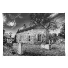 old dutch church of sleepy hollow cloth placemat home gifts ideas decor special unique custom individual customized individualized
