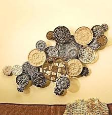 wall decor diy philippines art design 3 dimensional wallflower round gears silver black gold metal sculpture on diy dimensional wall art with dimensional wall art home decor wall decor