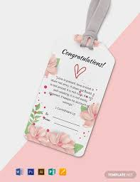 Gift Tag Template Publisher Free Floral Gift Tag Template Word Psd Apple Pages