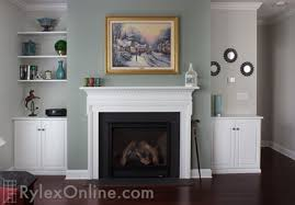 fireplace alcove cabinets built in fireplace cabinets with floating shelves