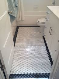 Bathroom Floor Tile Patterns With Border: White octagon floor tile with  black octagon border FINISHES