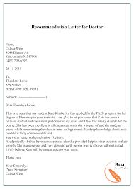 Recommendation Letter For Doctor 01 Best Letter Template