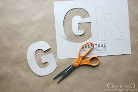 Letter For Banner Diy Glitter Gratitude Banner Jones Design Co