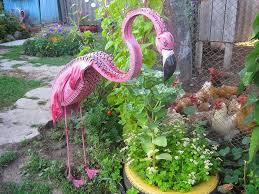 animal garden. Tire Recycling Ideas Old Unwanted Tires Pink Dig Flamingo Art Garden Diy Used Idea Hens Animal U