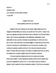 essay about capital punishment madrat co essay about capital punishment