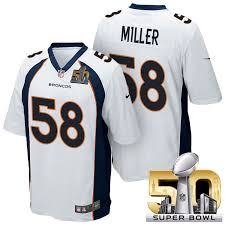 Jersey Denver 50 Super New Miller Bowl 58 Nfl Broncos Broncos … Http 2016 www Jerseys repjerseys White Von Bowl ru Game