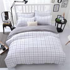 set design scandinavian bedroom. Interesting Plaid Comforter For Your Bedroom Design: Scandinavian With White Set And Design