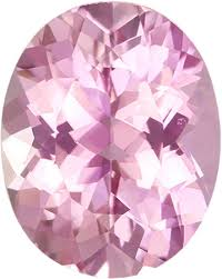 Baby Pink Gem Oval Cut Tourmaline Loose Gem In Pure Baby