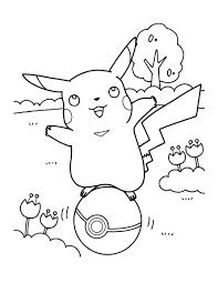 Coloriage Pikachu Pokeball Coloring Pages Pokemon Coloring