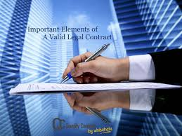 Contract Important Elements - Design Templates