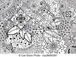 coloring book hand drawn ilration new stress relieving trend