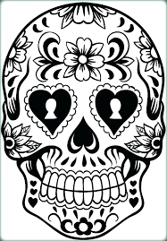 Coloring Pages Of Sugar Skulls Skull Coloring Pages To Print Sugar
