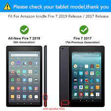 Silicone Mềm Dành Cho Máy Đọc Sách Amazon Kindle Fire 7 2019 2017 Sách Điện  Tử Máy Tính Bảng Dùng Cho Amazon Lửa Mới 7 9th Thế Hệ 2019 Cover