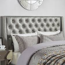 Aurora Faux Leather Crystal Tufted Nailhead Wingback Headboard by iNSPIRE Q  Bold - Free Shipping Today - Overstock.com - 20070702