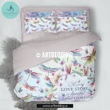 dragonfly bedding set watercolor dragonflies bedding set with love e designer bedding custom designed dragonflies patterns