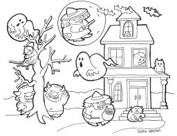 Halloween Coloring Pages Printable Free Easy And Page Auto Market Me
