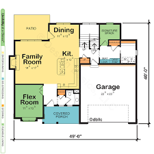 dual owner bedroom home plan