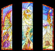 color approval sketch of religious church window
