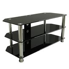 furniture amazing black glass tv stand with regard to com avf sdc1140 a tv