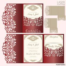 Invitation Envelope Template Die Laser Cut Wedding Card Vector Template Invitation