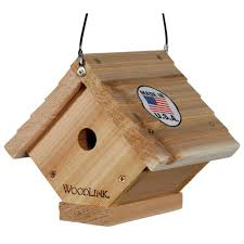 woodlink cedar traditional wren bird house