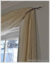 one dollar no sew curtains town country living branch curtain rods