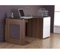 white walnut office furniture. Room4 Sorbonne Walnut \u0026 White Gloss Desk Photo Office Furniture