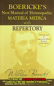 Homeopathy Repertory Chart New Manual Of Homoeopathic Materia Medica Repertory With Relationship Of Remedies By William Boericke 2006 Hardcover Large Print Revised