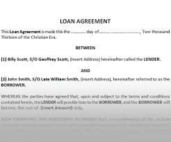 Loan Agreement Template Between Two Individuals - Mikezitompc.com