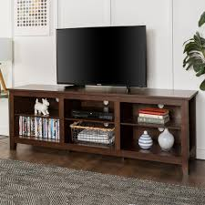tv stand with storage. Perfect With Walker Edison Furniture Company 70 In Wood Media TV Stand Storage Console   Traditional Brown For Tv With