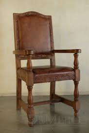 custom spanish style furniture. The Silla Casa Mexicana Especial With Arms Showcases Classic, Spanish Style Through Solid Mesquite Wood And Hand Dyed Upholstered Leather. Custom Furniture E