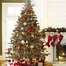 Red Silver And White Christmas Tree