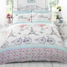 c est la vie paris duvet cover set bedding red pink single double king size