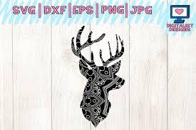 Free vectors and icons in svg format. Mandala Svg Deer Head Svg Deer Svg Antlers Svg Deer Head Clipart Mandala Deer Svg Animal Svg Cricut Cut Files Silhouette 103266 Cut Files Design Bundles