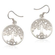 southern gates southern oak small round tree earring