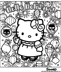 Small Picture Hello Kitty Christmas Coloring Pages Here are two Hello Kitty