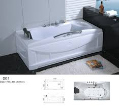 66 white bathtub whirlpool jetted spa tub 19 massage air jets inline heater new 15568213410